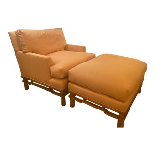 Marge Carson Chair & Ottoman For Sale