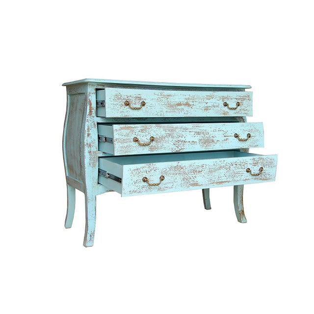 Rustic Gilbert Three Drawer Wooden Chest For Sale - Image 4 of 7