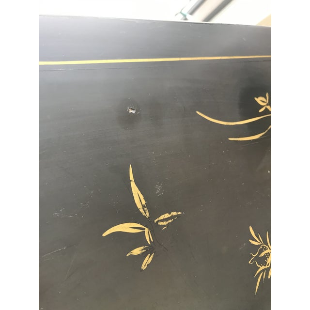 1950's Vintage Black Lacquer Chinoiserie Armoire For Sale - Image 12 of 12