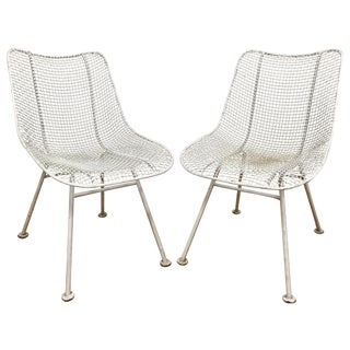 Russell Woodard Sculptura Wire Chairs - A Pair For Sale