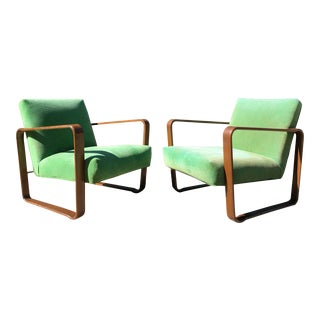 1940s Vintage Edward Wormley for Dunbar Lounge Chairs Model 4731 - a Pair For Sale