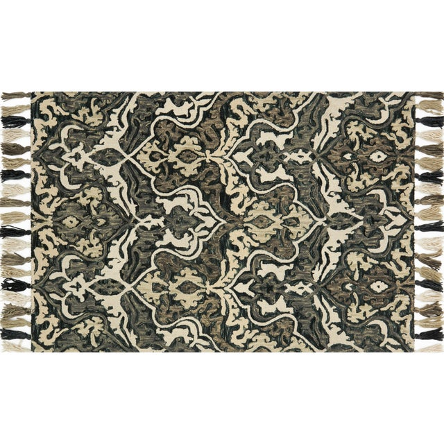 """Transitional Loloi Rugs Farrah Rug, Charcoal / Gray - 2'3""""x3'9"""" For Sale - Image 3 of 3"""