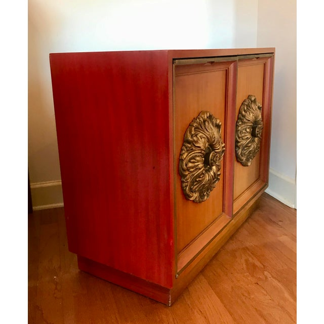 Hollywood Regency Mid-Century J. Mont Style Cabinet For Sale - Image 3 of 7