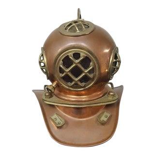 Vintage Brass & Copper Deep Sea Helmet