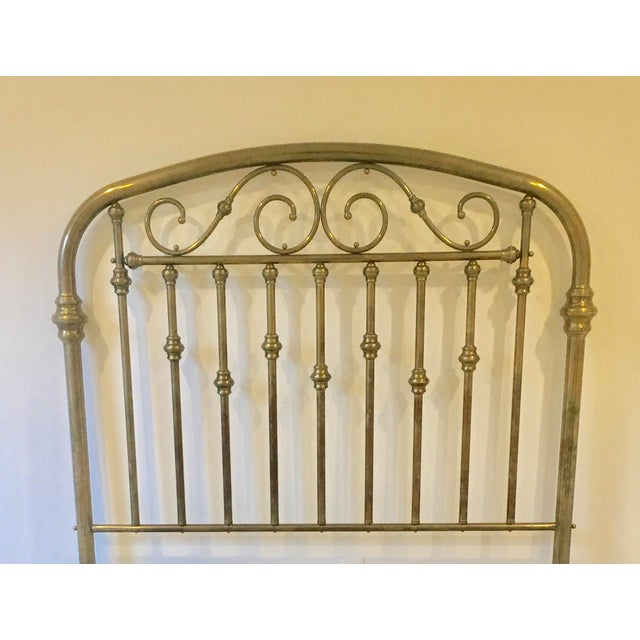 Antique Brass Headboard For Sale - Image 4 of 5