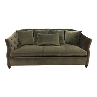 Cisco Brothers Light Gray Velvet Luccia Sofa For Sale