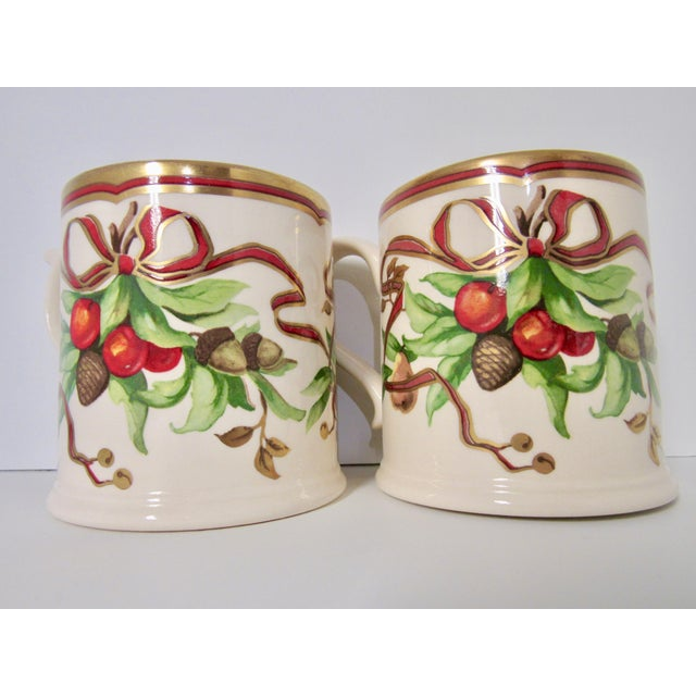 Red Christmas Mugs by Tiffany & Co - A Pair For Sale - Image 8 of 13