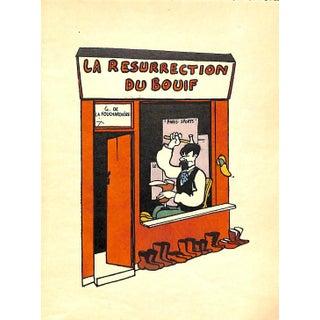 Paris Storefront, French Lithograph, La Resurrection Du Bouif, Guilac 1925, Matte4d For Sale