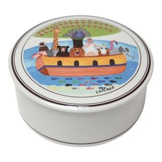 Vintage Design Naïf Noah's Ark Trinket Box by Gérard Laplau for Villeroy & Boch For Sale