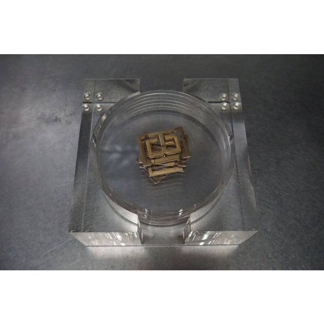 Tory Burch Lucite Coasters- Set of 6 For Sale In Los Angeles - Image 6 of 8