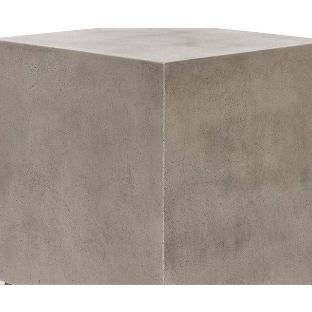 Contemporary Dark Grey Bloc End Table For Sale - Image 3 of 4