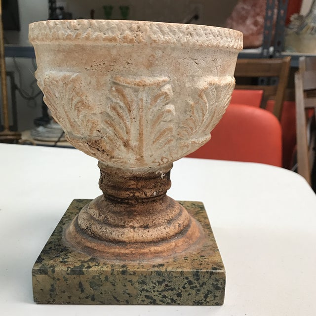 Stunning Maitland-Smith cup. Beautifully detailed stone cup resting on a marble base. This striking piece would be a...