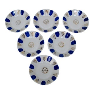 Porcelain Dipping Bowls, Set of 6 For Sale