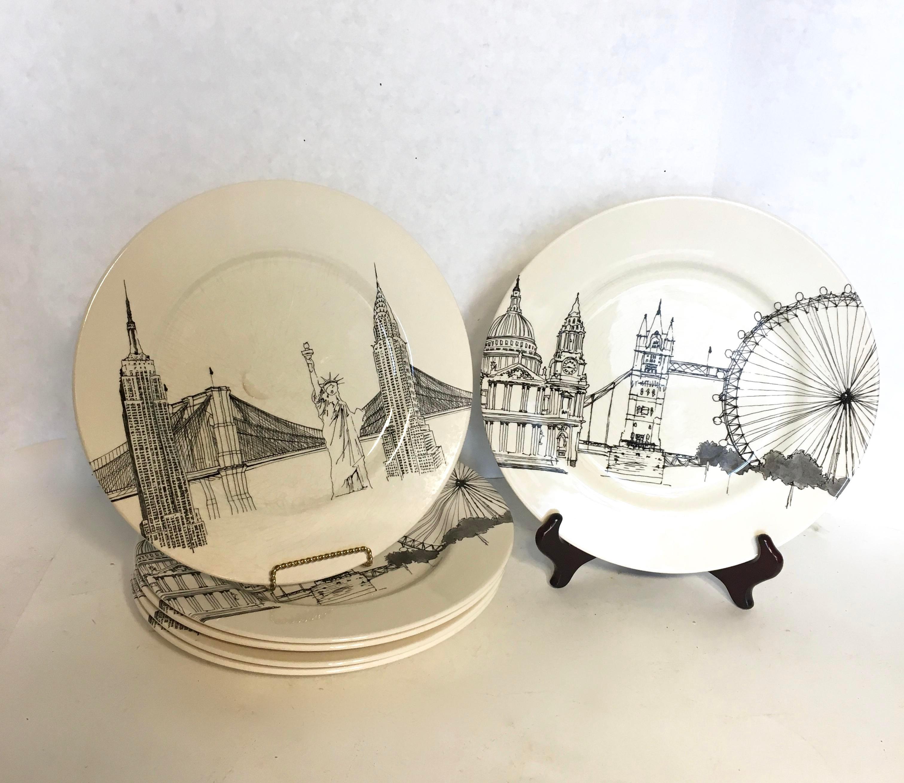 Royal Stafford New York \u0026 London Scenic Plates - Set of 6 - Image 3 of  sc 1 st  Chairish & Royal Stafford New York \u0026 London Scenic Plates - Set of 6 | Chairish