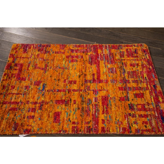 Contemporary Modern Indian Rug, 2' x 3' For Sale - Image 3 of 5