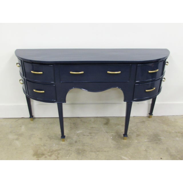 Old Navy Navy Blue Lacquered Mahogany Sideboard - Image 2 of 6