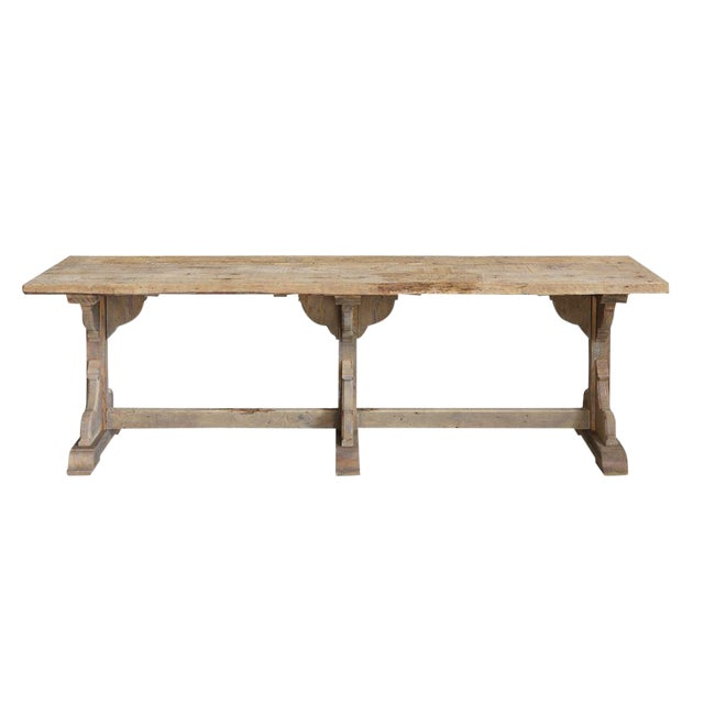 French Rectory Wooden Table For Sale
