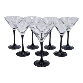 French Martini Glasses by Luminarc - Set of 8 For Sale