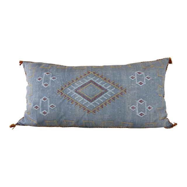 Moroccan Sabra Cactus Lumbar Cushion For Sale