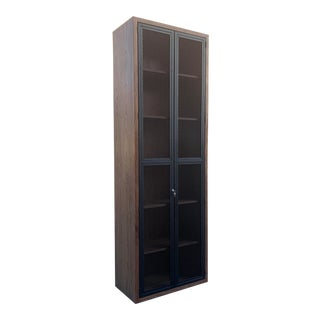 Custom Made Locking Cabinet With Expanded Metal Doors, Heavy Duty For Sale