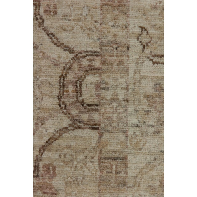 "Traditional Oushak, Hand Knotted Runner - 3'10"" X 10'0"" For Sale - Image 3 of 3"
