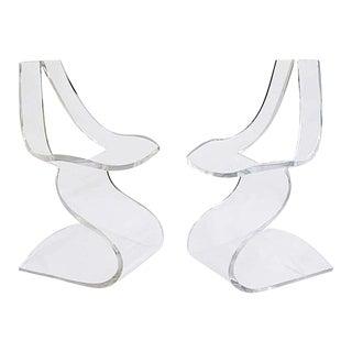 Mid-Century 'Dumas' Lucite Chairs-Boris Tabacoff - a Pair