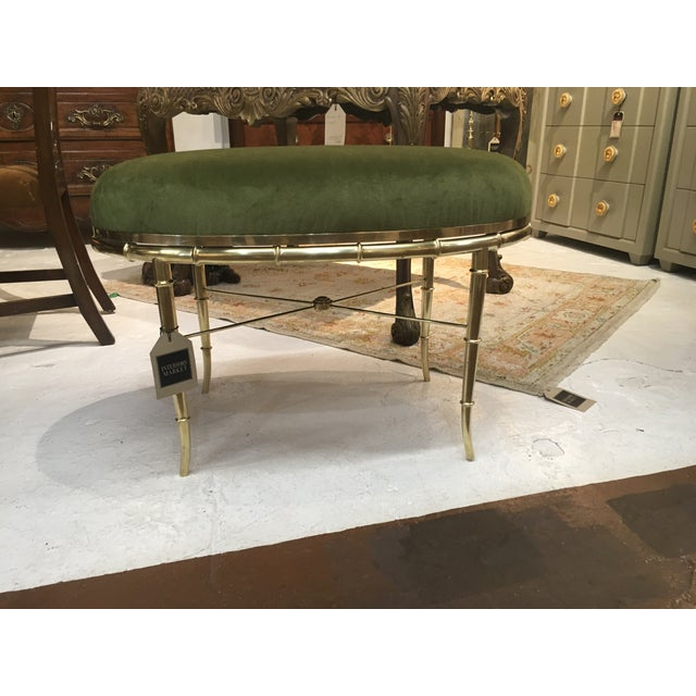 Metal Mastercraft Brass Faux Bamboo Benches - a Pair For Sale - Image 7 of 10