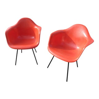 Mid-Century Herman Miller for Zenith Dax Fiberglass Side Chairs - Set of 2