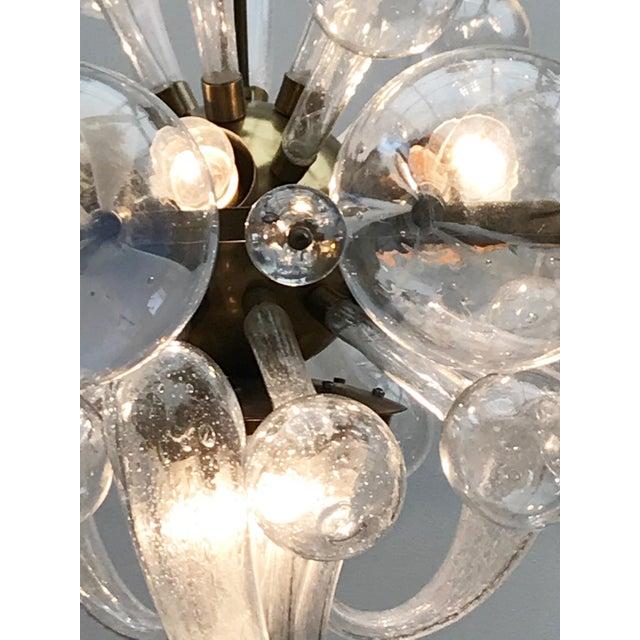 1960s Czech Republic Glass Suspension Chandelier For Sale - Image 4 of 12