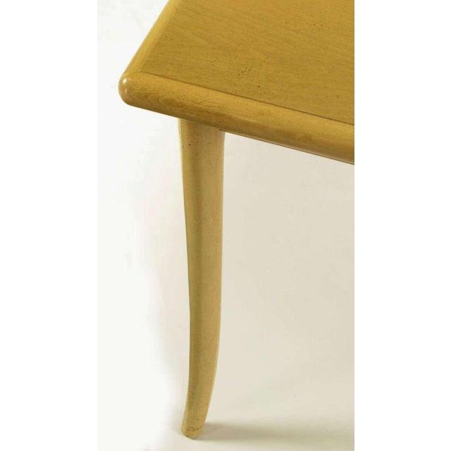 T.H.Robsjohn-Gibbings Bleached & Glazed Mahogany Saber Leg Dining Table - Image 6 of 8