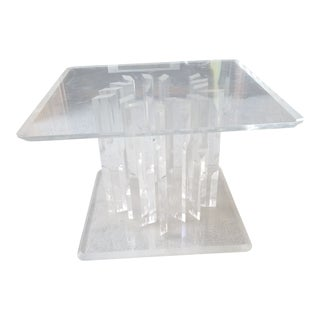 1960s Modern Acrylic Side Table For Sale