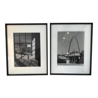 Framed Black & White Architectural Photographs - a Pair For Sale