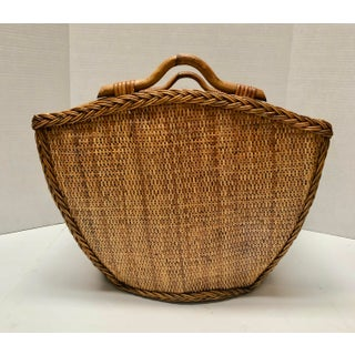Vintage Bamboo Wicker Basket Preview