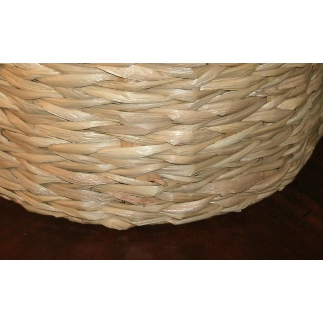 Boho Chic Woven Rattan Lamp Shade For Sale - Image 3 of 7