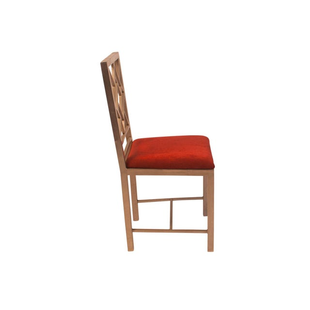 Asian 1990s Steel Chinese Chippendale Side Chair For Sale - Image 3 of 5