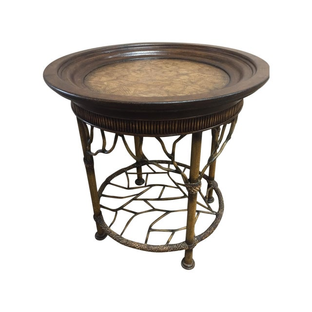 Wooden Round End Table - Image 1 of 8