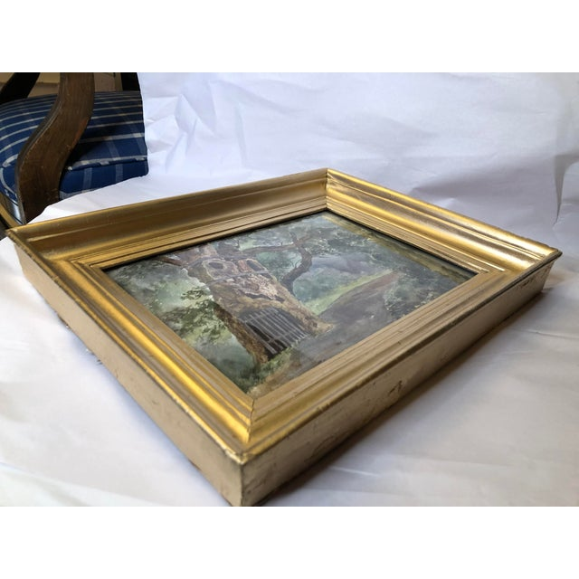 Wood 1891 Impressionist English Landscape Watercolor Painting, Framed For Sale - Image 7 of 10
