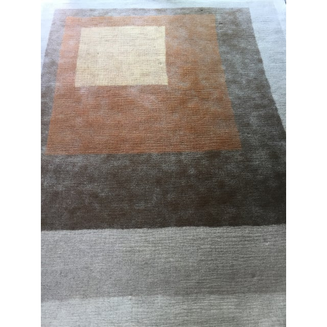 Peace Industry Handmade Rug - 8' x 10' For Sale - Image 4 of 8