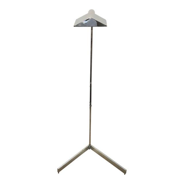 1970s Cedric Hartman Signed Chrome Floor Lamp For Sale