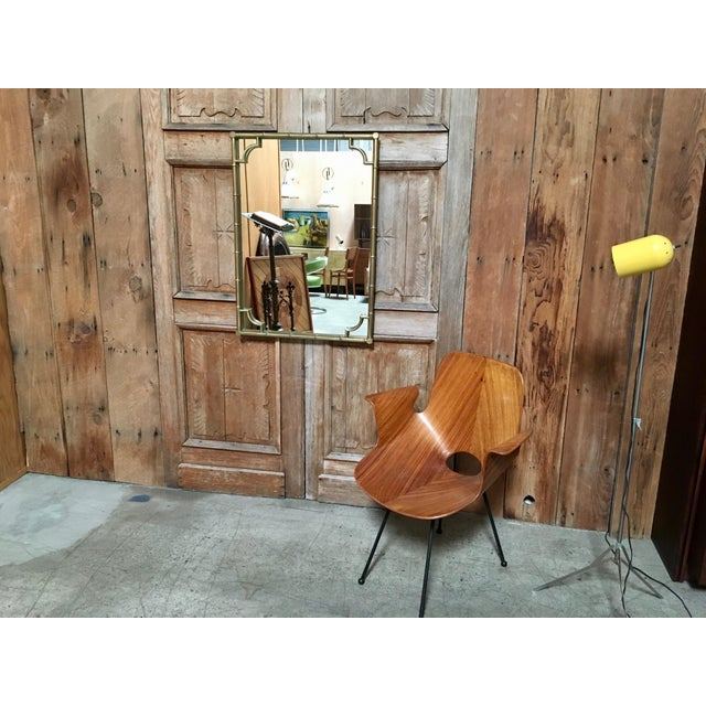 Mid-Century Modern Italian Faux Bamboo Framed Mirror For Sale - Image 3 of 11