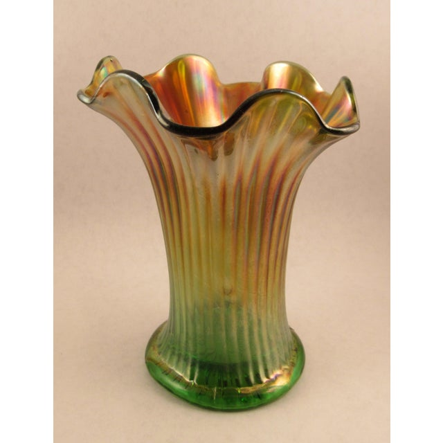 Antique Northwood Carnival Glass Vase Chairish
