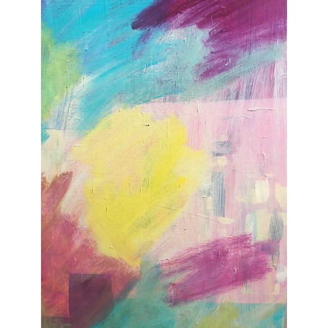 Original Abstract Painting on Wood - Image 5 of 6
