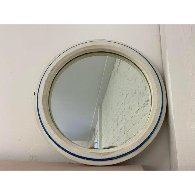 Vintage 1960s Nautical Porthole Mirror For Sale - Image 10 of 10