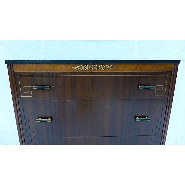 French Art Deco Style Apartment Size Dresser - Image 3 of 9