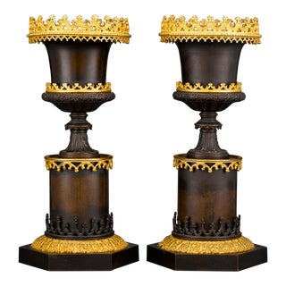 Gothic Two-colour Bronze Urns