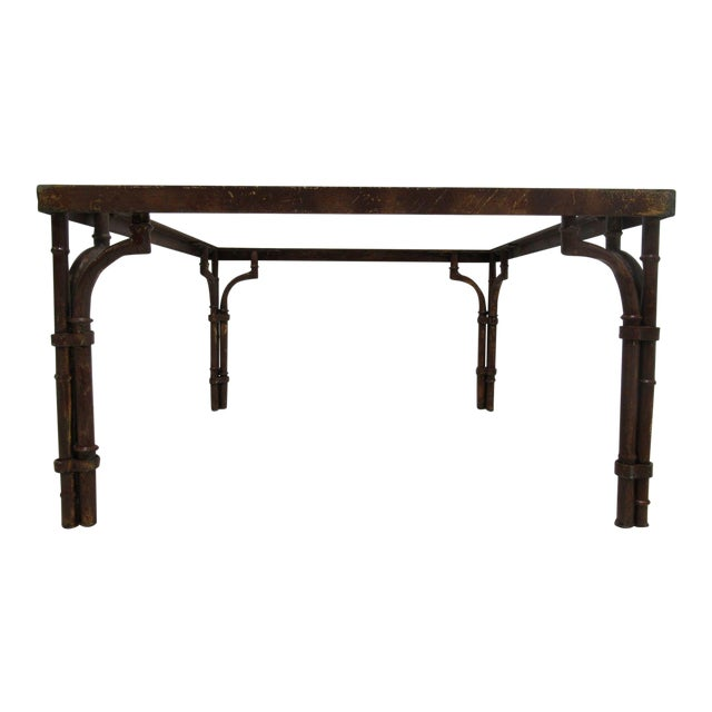 Vintage French Regency Faux Bamboo Metal Table Base - Image 1 of 6