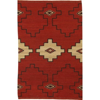 "Navajo Inspired Rug-4' X 6'1"" For Sale"
