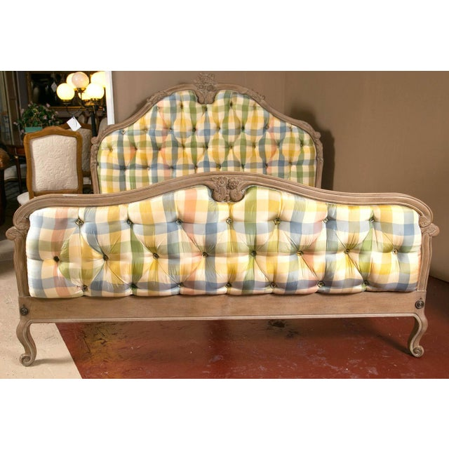 Yellow King-Sized Louis XV Style Country French Bed For Sale - Image 8 of 10