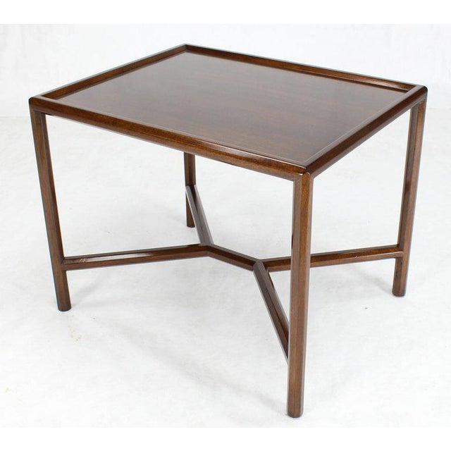 Mid-Century Modern Dunbar Walnut Side Table For Sale - Image 3 of 7