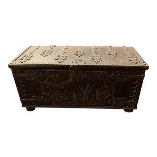 Antique Cast Iron Box For Sale